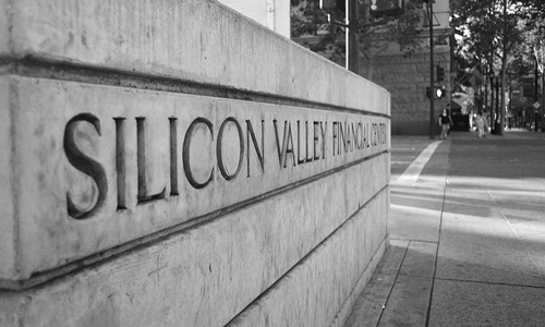 "Silicon Valley is perhaps the paragon of tech communities. (""Silicon Valley Financial Center"" by Flickr user Christian Rondeau CC BY 2.0)"