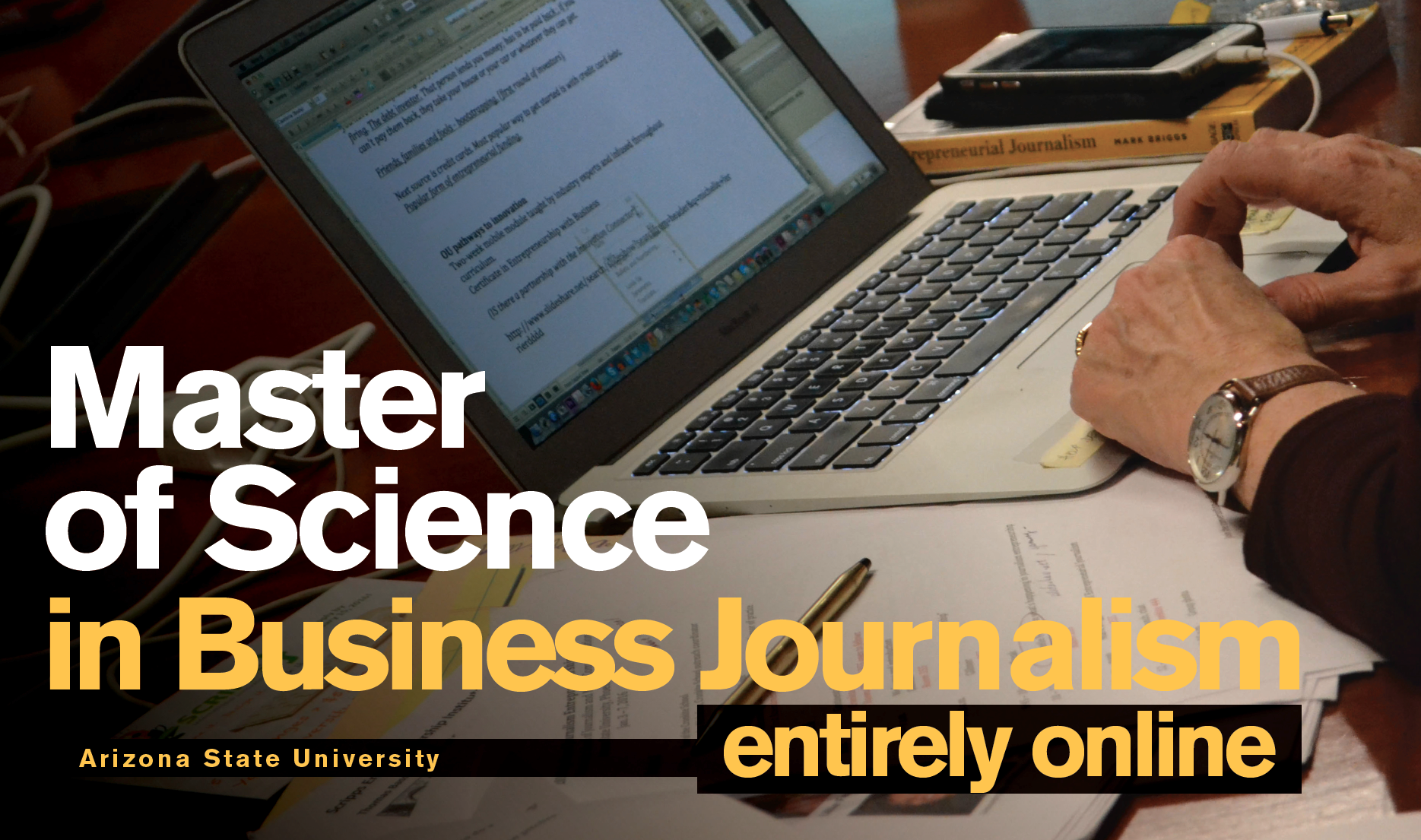 ASU Online Master of Science in Business Journalism