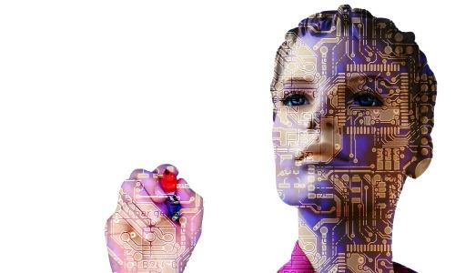 """Robot Artificial Intelligence"" by Pixabay user ""geralt"" CC0 license Public Domain"