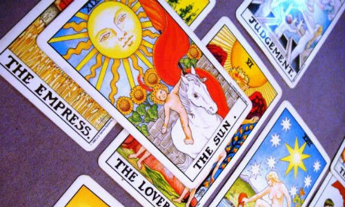 "Tarot cards are fun, but Bloomberg has five charts that might be better at predicting what's next for the market. (""Tarot Spread 6 by Aquariun Insight via flickr, TKTKTK)"