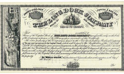 "Earnings Per Share and the value of a share don't necessarily go hand-in-hand. (""Long Dock Company Stock Certificate 1860s"" by William Cresswell via Flickr, CC BY 2.0)"