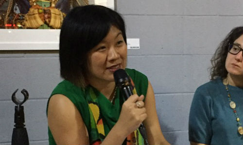 Amy Wu joins a panel of journalists who discuss the importance of local journalism. (Image courtesy Amy Wu)