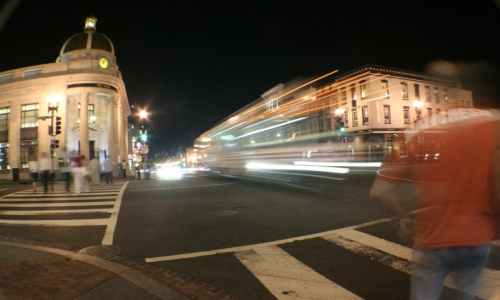 """Georgetown in Washington, D.C., is a frequent example of walkable urbanism. (Image by """"BKL"""" via Flickr)"""